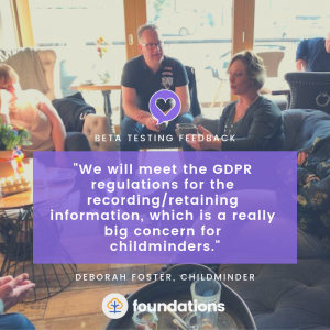Childminder Deb foster quote on GDPR