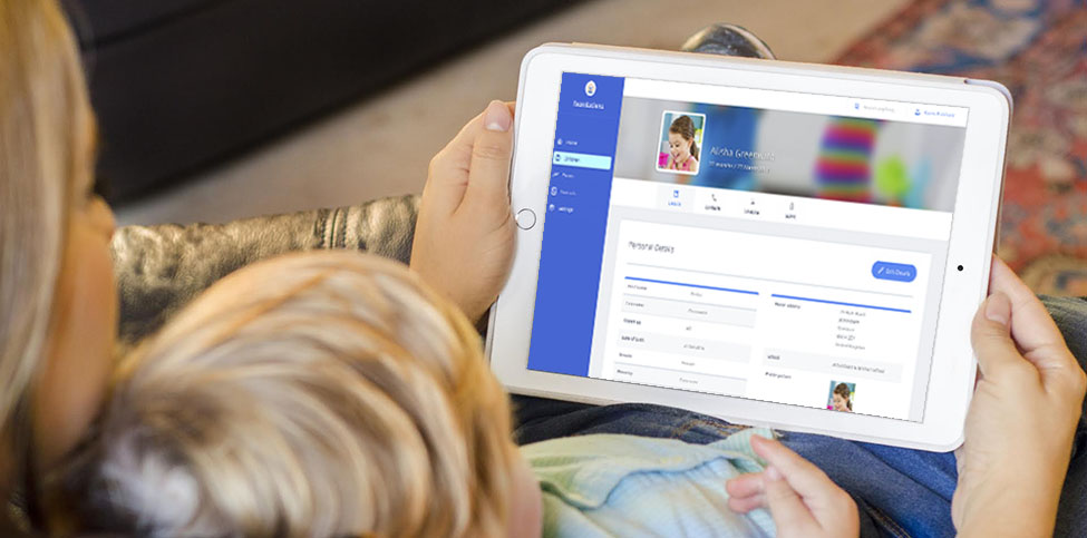 foundations childcare app in use at home